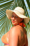 Tropical beach woman Royalty Free Stock Images