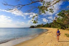 Tropical beach woman Stock Photo