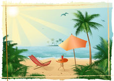 Tropical_beach_yu_fitness Stock Images