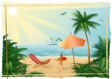 Tropical_beach_yu_fitness Imagenes de archivo