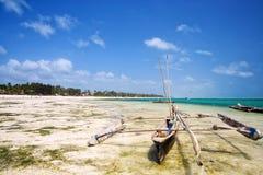 Tropical beach in Zanzibar Royalty Free Stock Photos
