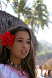 Tropical beauty. Girl on a tropical island Royalty Free Stock Photo
