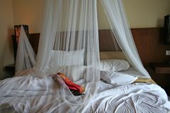 Tropical bed Royalty Free Stock Photography