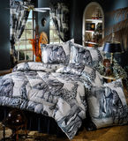 Tropical Bed room set Royalty Free Stock Image
