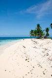 Tropical Belize Island. A Small Tropical White Sand Island in Belize stock image