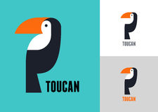 Tropical bird, vector toucan Royalty Free Stock Image