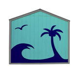 Tropical Blue Hut Stock Photo