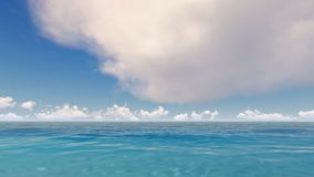 Tropical blue ocean with clouds time lapse. Tropical blue ocean with white clouds time lapse stock video