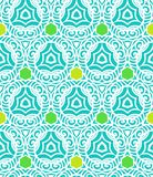 Tropical blue pattern in hipster style Stock Image