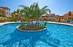 Tropical Blue Pool Royalty Free Stock Photo
