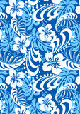 Tropical blue repeat pattern. Royalty Free Stock Images