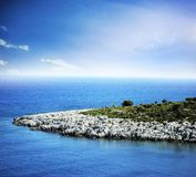 Tropical blue sea and island Royalty Free Stock Images