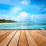 Tropical blue sea water Royalty Free Stock Photo