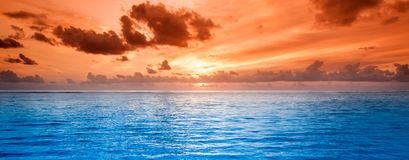 Tropical blue sea water Stock Image