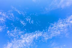 Tropical  Blue Sky Cloud, abstrace cloud Background, skyscape Royalty Free Stock Photo