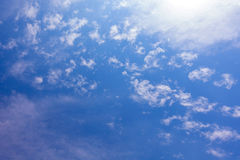 Tropical  Blue Sky Cloud, abstract cloud Background, skyscape Royalty Free Stock Images
