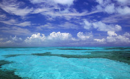 Tropical blue water clouds Florida royalty free stock photos