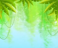Tropical branches Royalty Free Stock Photos