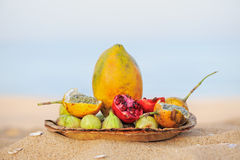 Tropical Breakfast Stock Photography