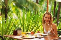 Tropical breakfast Royalty Free Stock Photography