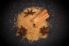 Tropical brown sugar, anise, cinnamon Stock Image