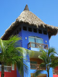 Tropical building. Building in the caribbean stock photos