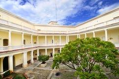Tropical building with interior yard Stock Photos
