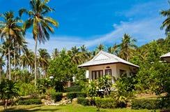 Tropical bungalow. Tropical beach house on the island Koh Kood, Thailand Royalty Free Stock Photo