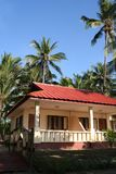 Tropical bungalow. On Ngwe Saung Beach in Myanmar Stock Photography