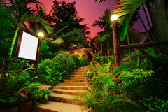 Tropical bungalows Royalty Free Stock Image