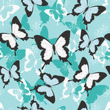 Tropical butterfly seamless pattern Stock Photography