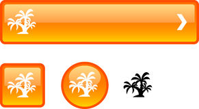 Tropical button set. Royalty Free Stock Photography