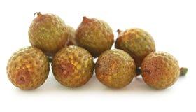 Tropical Calamus palm fruits Stock Photo