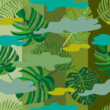 Tropical camouflage pattern. Royalty Free Stock Image
