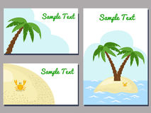 Tropical cards Royalty Free Stock Images