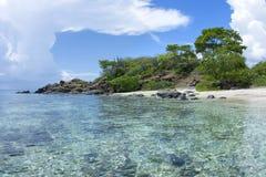 Tropical Caribbean beach paradise Royalty Free Stock Image