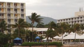 Tropical Caribbean beachfront hotel located in Montego Bay, Jamaica stock video footage