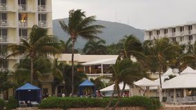 Tropical Caribbean beachfront hotel located in Montego Bay, Jamaica stock footage