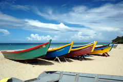 Tropical Caribbean Boats. Beautiful fishermens boats Royalty Free Stock Images