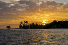 Tropical Caribbean Sunsrise. Royalty Free Stock Image
