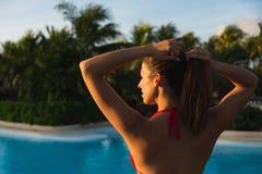 Tropical caribbean vacation at resort hotel Stock Photo
