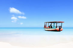 Exotic Caribbean water taxi Stock Photography