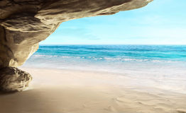 Tropical cave Stock Image