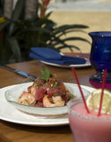 Tropical Ceviche 2. Tropical Ceviche with tuna and shrimp Royalty Free Stock Photography