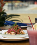 Tropical ceviche. With herbs and frozen margarita Stock Images
