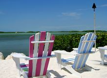 Tropical Chairs Stock Images