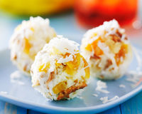 Tropical cheese balls Royalty Free Stock Photos