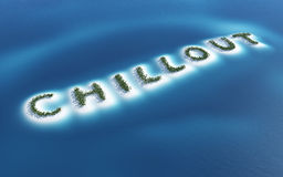 Tropical chill out sign Stock Photos