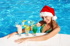 Tropical christmas royalty free stock image