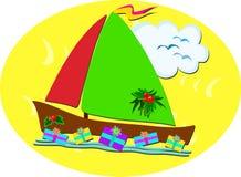 Tropical Christmas Sailboat Stock Photography